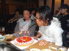 会長の誕生日祝い