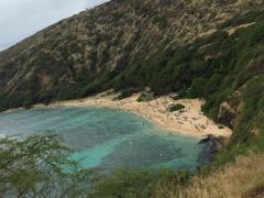ハナウマ湾をパシャリ!!とても綺麗ですね☆