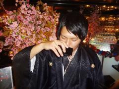 航部長も日本酒を頂いていました!絵になりますね!
