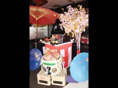 なんと日本酒タワーもっ!木槌の代わりにピコピコハンマーが!!
