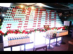 圧倒的壁タワー!! 赤グラスでSUDAと描かれているのがお分かりいただけますでしょうか!?