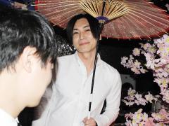 幸村代表は和傘持ちの姿でコメント来ました!